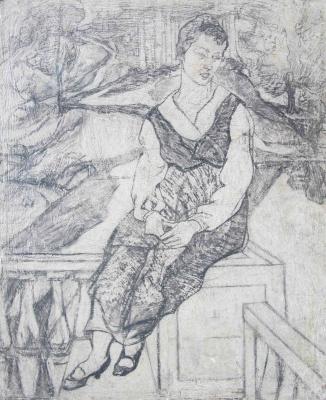 Алексей (Олекса) Новаковский. Seated