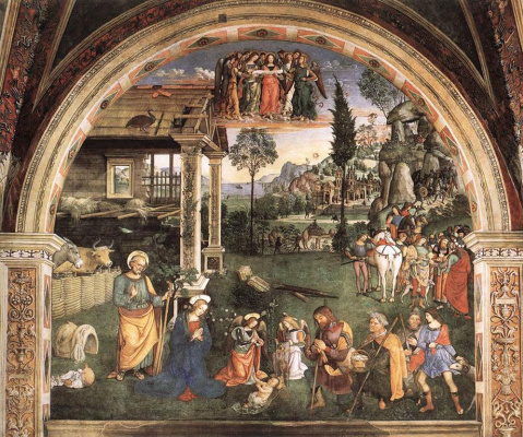 Pinturicchio. Worship the baby