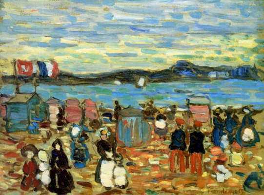 Maurice Braziel Prendergast. Cabanas, San Malo