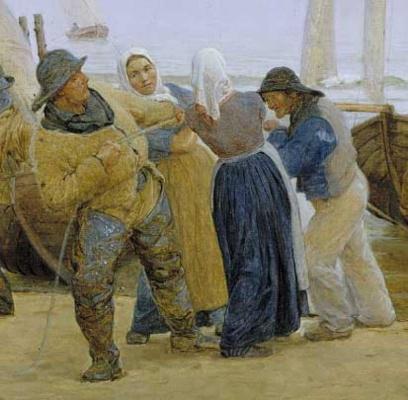Peder Severin Kreyer. The fishermen in Hornbæk