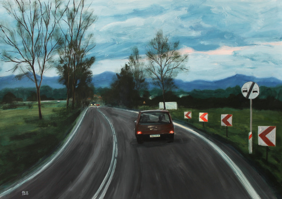 Denis Grigorievich Rusakov. Evening on the road