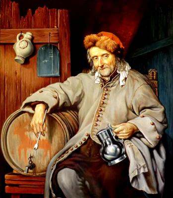 Valery Vasilyevich Litvinov. The old drunkard (copy Metsu)