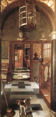 Samuel van Hogstraaten. Interior. View of the corridor
