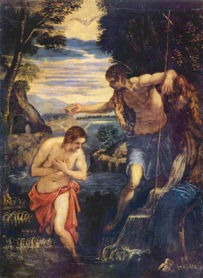 Jacopo Tintoretto. Baptism