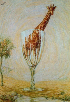 René Magritte. Bath in a glass