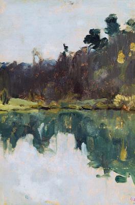 Isaac Levitan. The shore of the lake