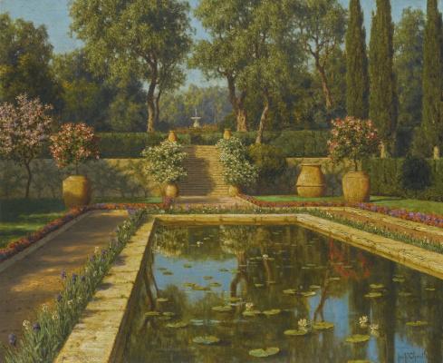 Ivan Fedorovich Schultze. Nice. Blooming garden