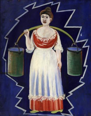 Нико Пиросмани (Пиросманашвили). Женщина с ведрами