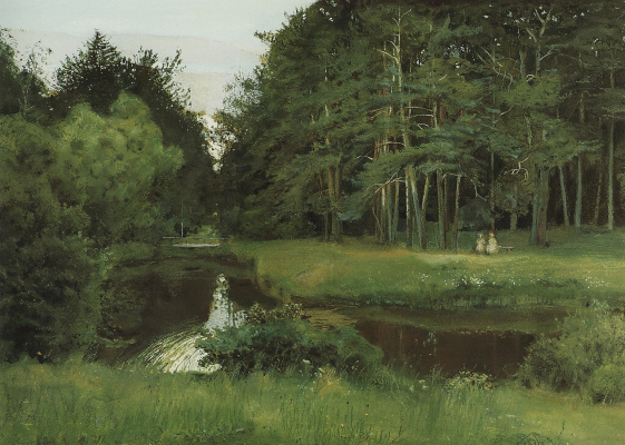 Constantin Somov. Twilight in the old Park