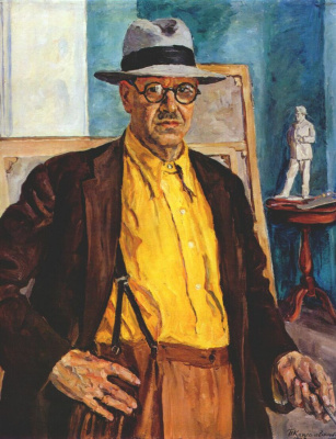 Petr Petrovich Konchalovsky. Self-portrait (in yellow shirt)