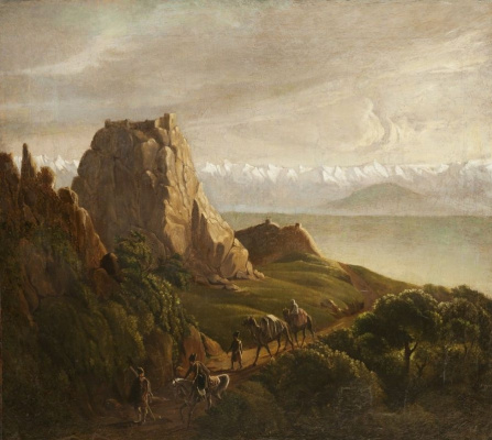 Mikhail Yurjevich Lermontov. Caucasian view with camels