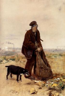 Жан-Франсуа Рафаэлли. Старьевщик с собакой