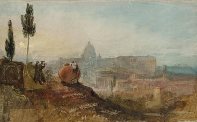 Джозеф Мэллорд Уильям Тёрнер. Собор св. Петра и Ватикан со стороны садов Виллы Барберини, Рим