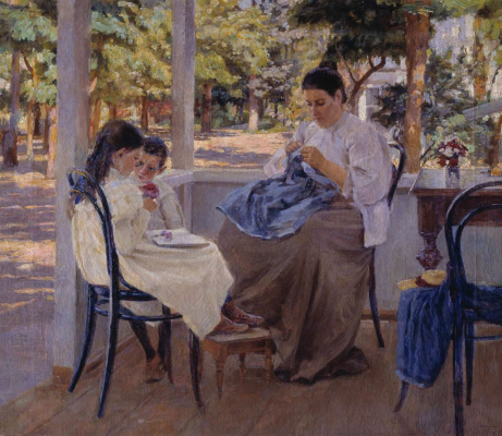 Kiriak Konstantinovich Kostandi. On the terrace. Summer