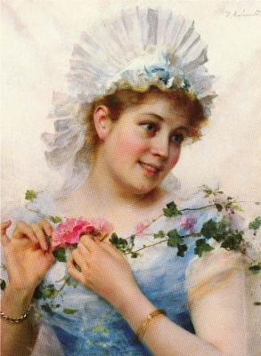 Федерико Андреотти. Молодая девушка с розами
