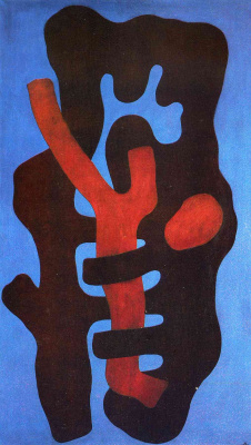 Fernand Leger. Elements on a blue background