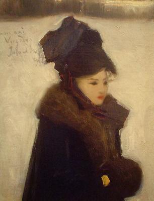 Джон Сингер Сарджент. Женщина в мехах (Портрет Д. Вержезе)