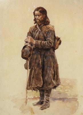 Vasily Ivanovich Surikov. The wanderer. Etude