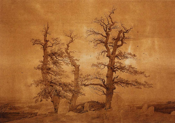 Caspar David Friedrich. Trees