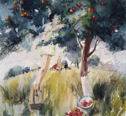 Валерий Валентинович Архипов. За яблоками. 1996
