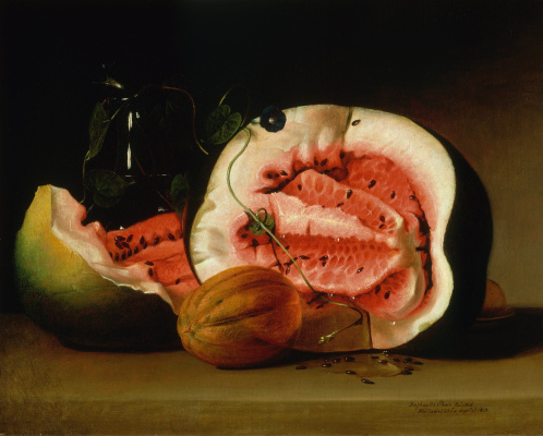 Raphaelle Peale. Melons, watermelons and morning glories