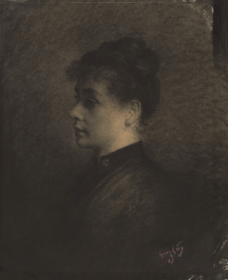 Lucien Levi-Durme. Profile of a young woman. 1885