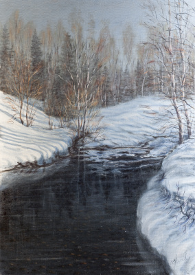 Valery Levchenko. № 218 March snow