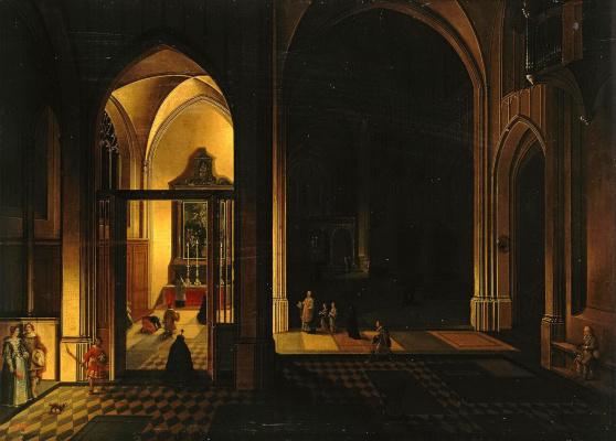Внутренний вид готической церкви