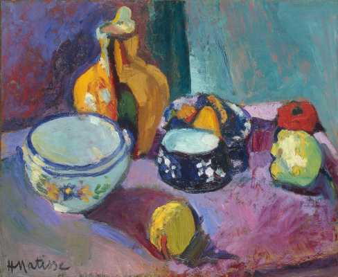 Henri Matisse. Tableware and fruits