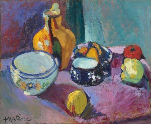Henri Matisse. Tableware and fruits