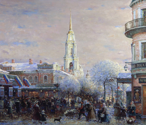 Alexander Victorovich Shevelyov. In the old Rybinsk.oil on canvas 71,5 # 83 see 2007