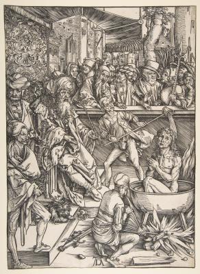 Альбрехт Дюрер. Мученичество Святого Иоанна. Из серии Апокалипсис.