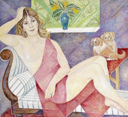 Мария Брониславовна (Воробьева-Стебельская) Маревна. Женщина с двумя собаками.