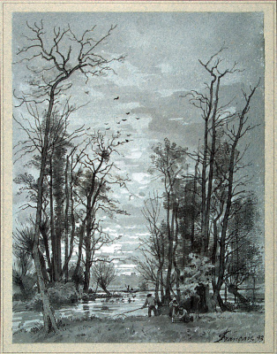 Луи Франсе. Осенний пейзаж