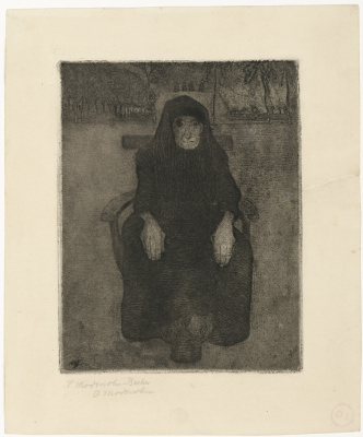 Паула Модерзон-Беккер. Сидящая старуха