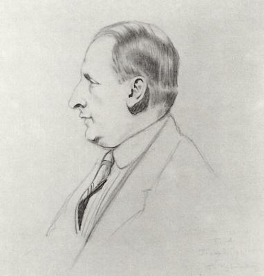 Boris Mikhailovich Kustodiev. Portrait of B. A. Gorin-Goryainov