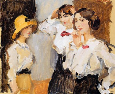 Исаак Исраэлс. Рабочие девушки в белых блузках