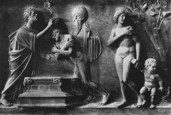 Туллио Ломбардо. Святой Марк крестит Аммиана
