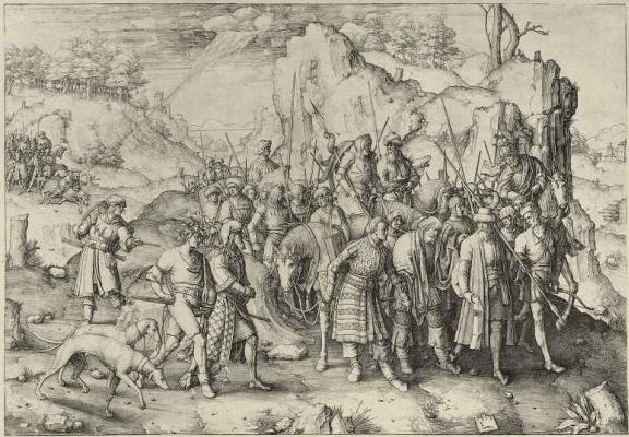 Lucas van Leiden (Luke of Leiden). The Conversion Of Saul