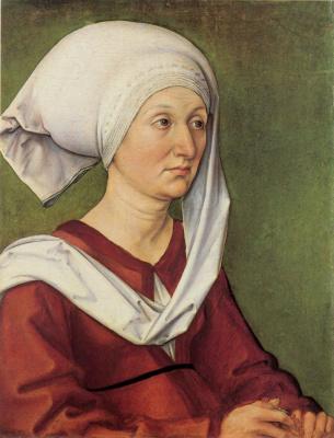 Albrecht Durer. Portrait of Barbara dürer, née Holper