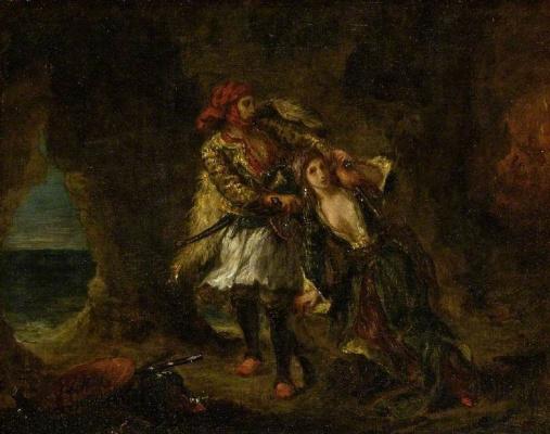 Эжен Делакруа. Абидосская невеста в пещере