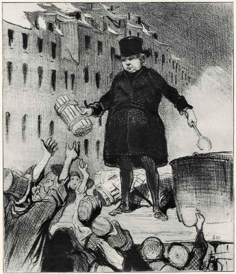 Honore Daumier. Love of neighbor
