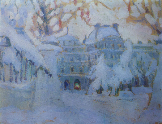 Николай Григорьевич Бурачек. Palace under the snow