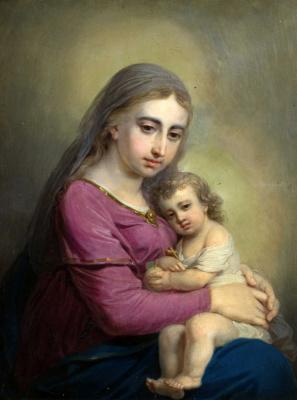 Vladimir Lukich Borovikovsky. The virgin and child