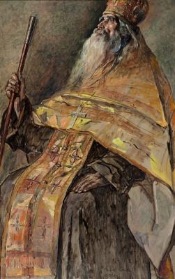 Pavel Dmitrievich Korin Russia 1892 - 1967. Archpriest Vasily Fedorovich Sobolev. State Tretyakov Gallery, Moscow