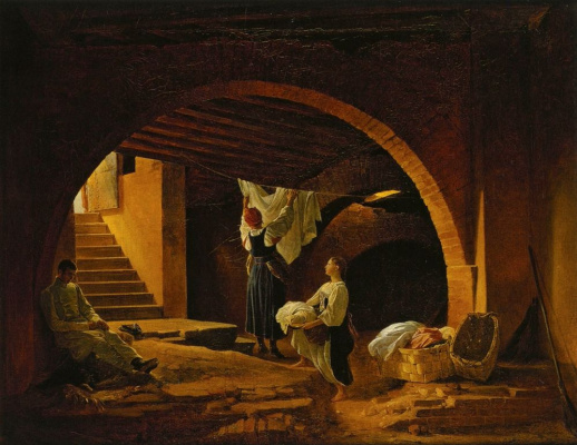Petr Vasilyevich Basin. The attic of the Academy of fine arts