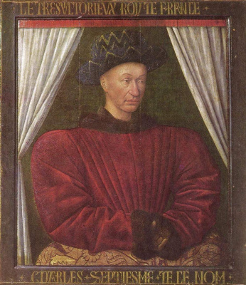 Jean Fouquet. Portrait of Charles VII
