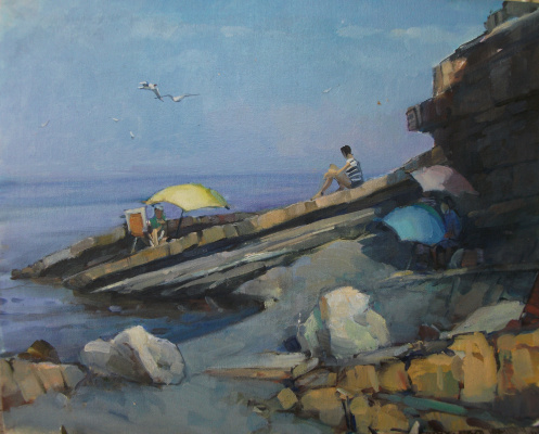 "Sergey Anatolevich Bondaryuk. Etude ""Morning in the valley of the river Sukko"""