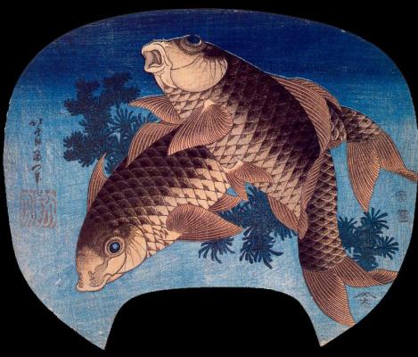 Katsushika Hokusai. Fish