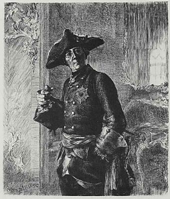 Adolf Friedrich Erdmann von Menzel. King Frederick II